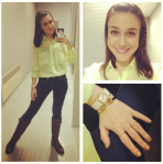 Forever 21 shirt, H&M jeans, JCPenney boots, Kenneth Cole watch and Vita Fede bracelet